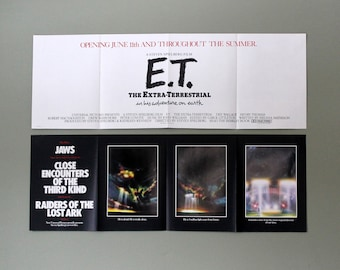 Vintage ET Movie Advertisement Promotional Poster circa 1982