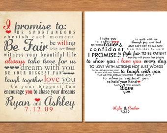 Wedding Vows Typography