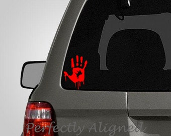 Zombie Hand decal for cars, macbooks, flamethrowers, etc...
