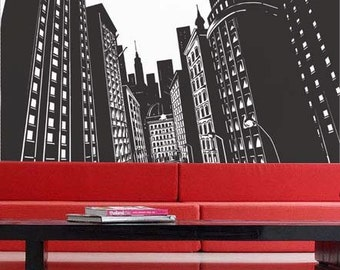 City View - uBer Decals Wall Decal Vinyl Decor Art Sticker Removable Mural Modern A248
