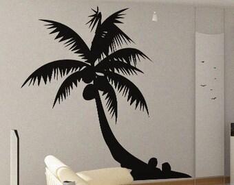 Palm Tree 4 - uBer Decals Wall Decal Vinyl Decor Art Sticker Removable Mural Modern A399