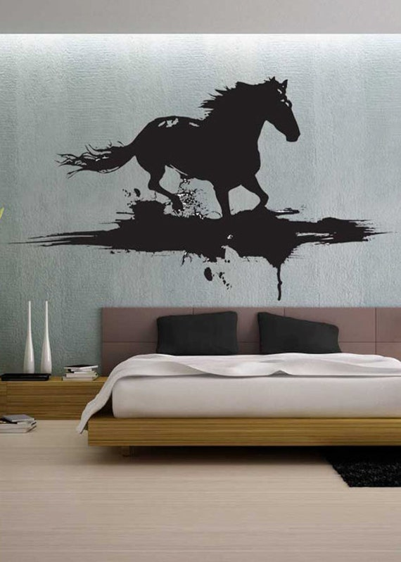 Modern horse uber decals wall decal vinyl decor art by for Horse wall decals