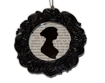 Upcycled Jane Austen Silhouette Frame