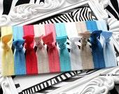 Sassy Ties AT THE SEASHORE hair ties elastics set of 10 ouchless emi bella jay inspired pony tail holder bracelets Summer Beach