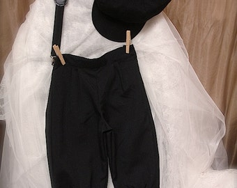 COTTON Black sz. 1-3T or 4-6yrs Knicker Pants for boys, black knickers for boys, ringbearer outfit for boys Sz. 1-3T or 4-6yrs little boys