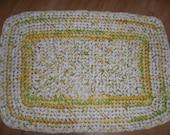 Crocheted Rectangle Rag Rug