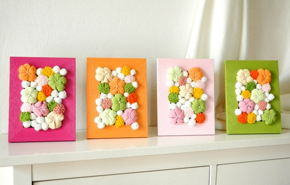 Items similar to baby room decor with fabric flower wall for 3d baby room design