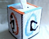 Portal II Tissue Box Cover Plastic Canvas Kleenex Cozy - SnarkyLittleStitcher