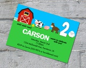 Farm Birthday Invitation - printable digital file
