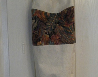 Grocery Bag Holder With Feather Fabric
