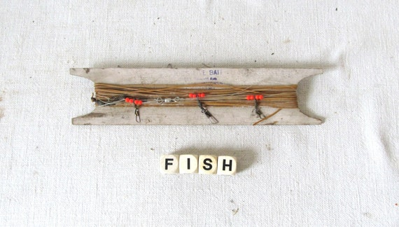 Rustic wood fishing line holder for Fishing line holder