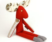Textile Deer, Soft Cotton Handmade Toy