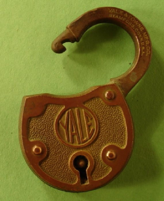 Vintage Brass Yale Lock Yale And Towne Mfg Co