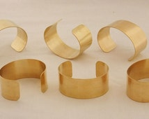 Set of 6 Brass Bracelet Cuff Blanks For Jewelry Making 1 inch