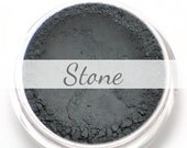 "Eyeshadow Sample - ""Stone"" - matte dark/deep gray grey (Vegan) Mineral Makeup Eyeliner"