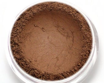 """Matte Dark Brown Eyeshadow - """"Eclair"""" - chocolate brown/rich dark brown - Vegan Mineral Eyeshadow Net Wt 2g Mineral Makeup Eyeliner"""