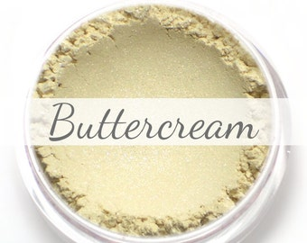 "Eyeshadow Sample - ""Buttercream"" - shimmery/frosty cream (Vegan) Mineral Makeup Eye Color Pigment"