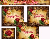 Etsy shop banner - Premade Antique Vintage Roses and Frames Etsy Shop Set Banners and Avatars