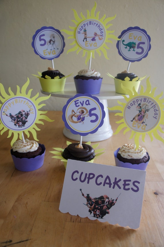 Tangled Cupcake Toppers