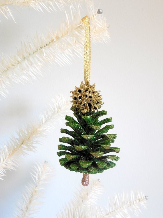 Pine Cone Christmas Tree Ornament by WestTwinCreationsLLC ...