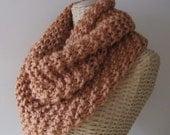 Hand Knit Soft Mobius Cowl - Cinnamon Cowl - Super Chunky Yarn - Womens Fashion Accessory
