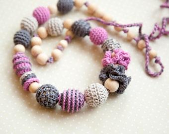 Boho style Teething Necklace - Nursing necklace