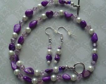 """16""""  Necklace & Pierced Earring Set"""