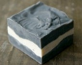 Clarifying Skin Detox Activated Charcoal Soap / All Natural Handmade Cold Process Soap Bar / Fragrance Free / tbteam