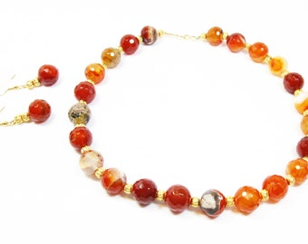 Amber Agate Necklace