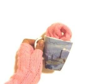 Pink Long Fingerless Gloves Armwarmers Hand Knit Chic Winter Accessories Winter Fashion,