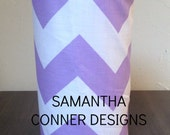 HEADBAND HOLDER- Lavender Chevron Stripe