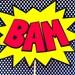 Retro Superhero Bam & Pow signs