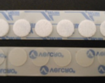 Adhesive Back, Low-Profile, Clear Velcro Coins