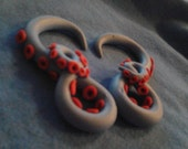 Light Blue and Red Size 2g Tentacle Gauges