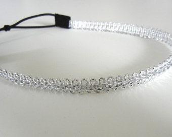 Silver Trim Headband