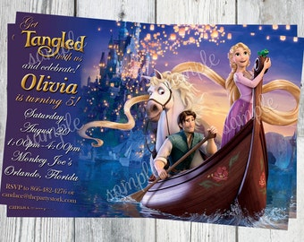Rapunzel Invitation, Tangled Birthday Invitation, Rapunzel Party, Tangled Invites - Printable