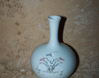 Oriental Pottery Vase Signed Oriental Vase