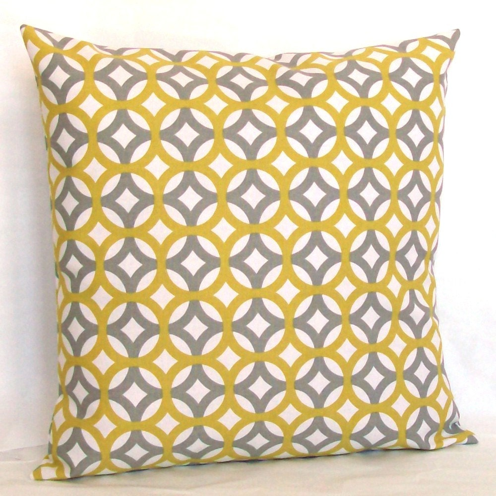 Modern Grey Decorative Pillow Cover 18x18 or 20 x 20 inch