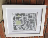 11x14 2 Layer Map FRAMED