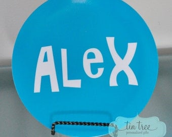 Personalized Plate - Color - Personalized Plate for Boys
