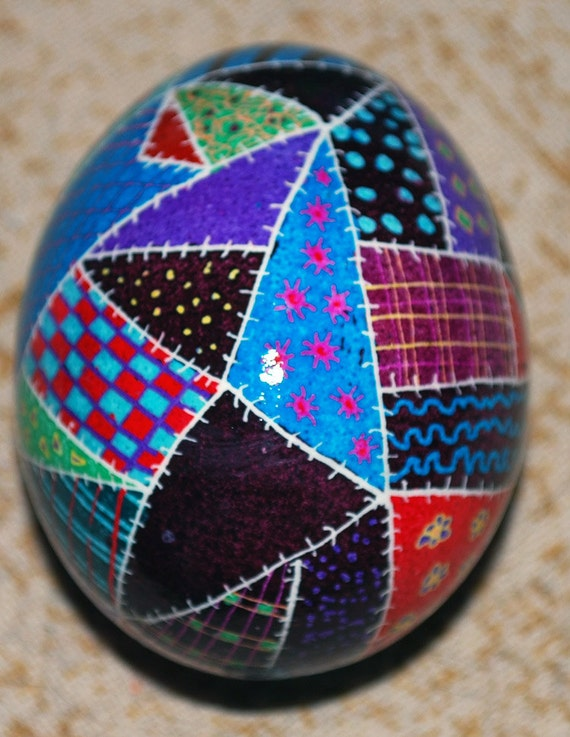 items similar to patchwork quilt pattern pysanky ukrainian