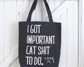 Important Cat Tote