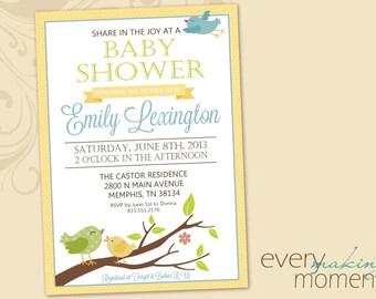Baby Shower Invitation -- digital, custom, printable -- Baby Boy -- Baby Girl-- Baby Shower Invite