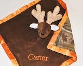 Camoflage Lovey Security Stuffed Animal Blanket Personalized - Deer