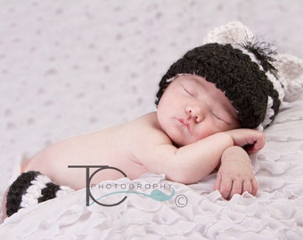 CLEARANCE Crochet Zebra hat and Striped Leg Warmers, baby newborn, photography prop