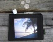 Palm in Sunset Medium Hemp Coin Purse by Dharma Love