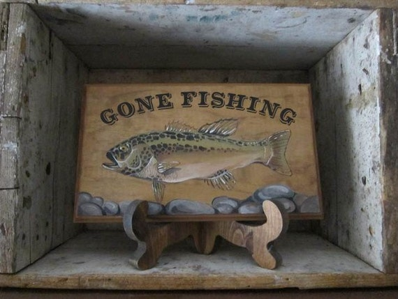 Man cave sign fishing sign ready to be by originalcharm on for Fishing man cave