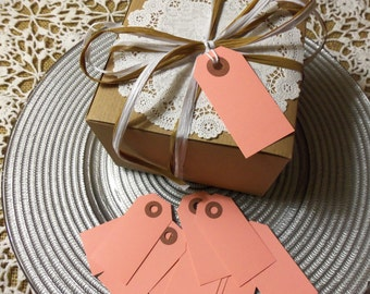 """50 PINK Tags, Small, 2 3/4"""" x 1 3/8"""" - Gift, Parcel, Wish Tags, Blank"""