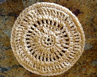 Crochet Sunny Round Dishcloth PDF Pattern, Double Diamond Knits     permission to sell finished dishcloths