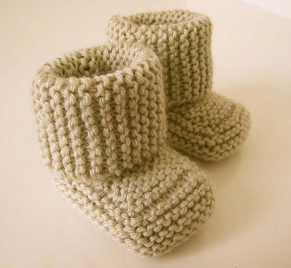 Knitting Baby Booties Patterns : Oh baby bootie knit pdf pattern by double diamond knits